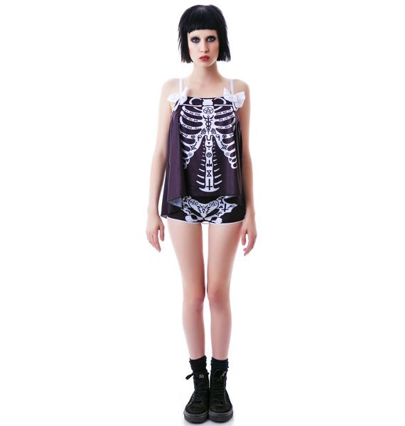 Too Fast Occult Bones Schwing PJ Set