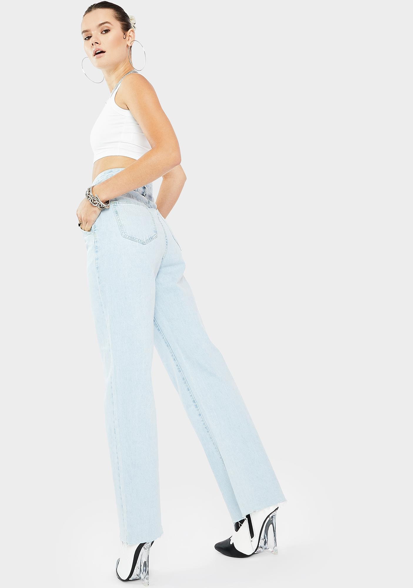 THE KRIPT Juna Cut Out Jeans