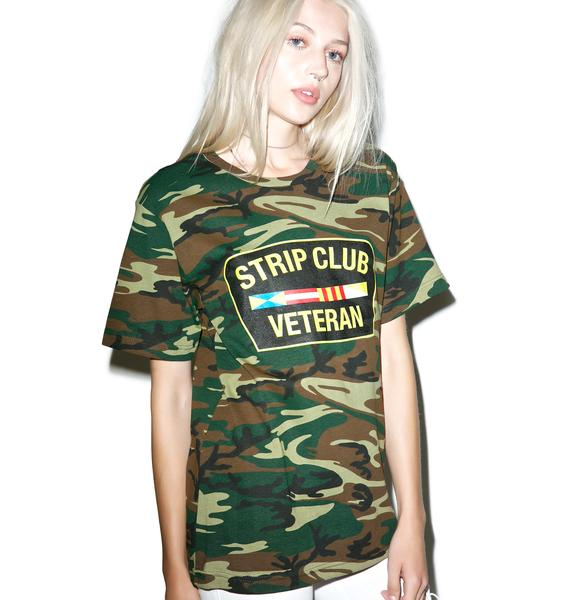 Reason Camo Strip Club Veteran T-Shirt