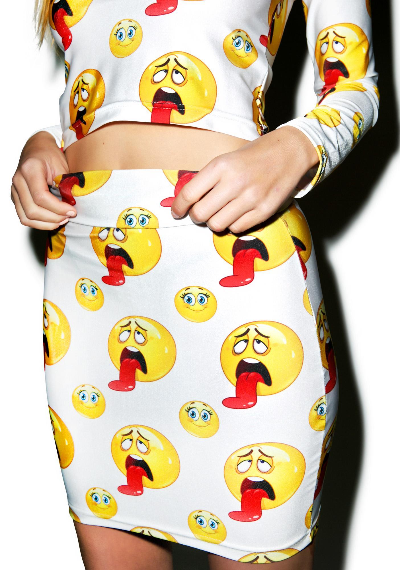 DEVOWEVO Sick Face Bandage Skirt