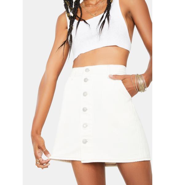 Levis Button Front Utility Denim Skirt