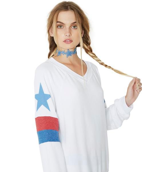 Wildfox Couture Star Spangled Gidget Beach Jumper