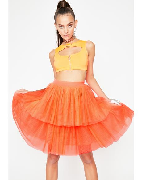 Vibrant Princess Vibes Tulle Skirt