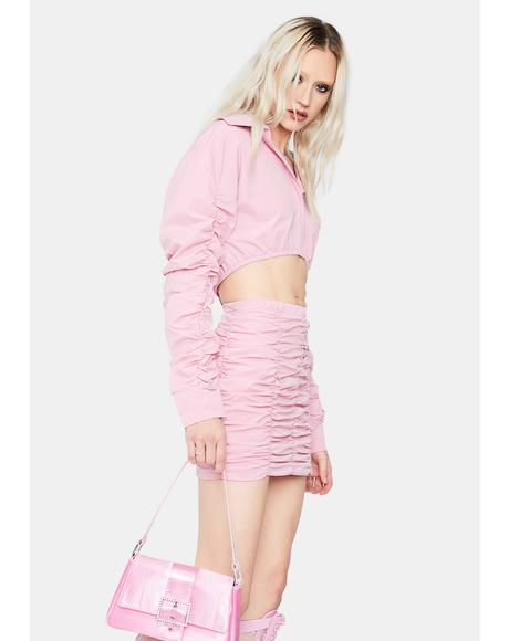 Bubblegum Feel Free Crop Top Skirt Set