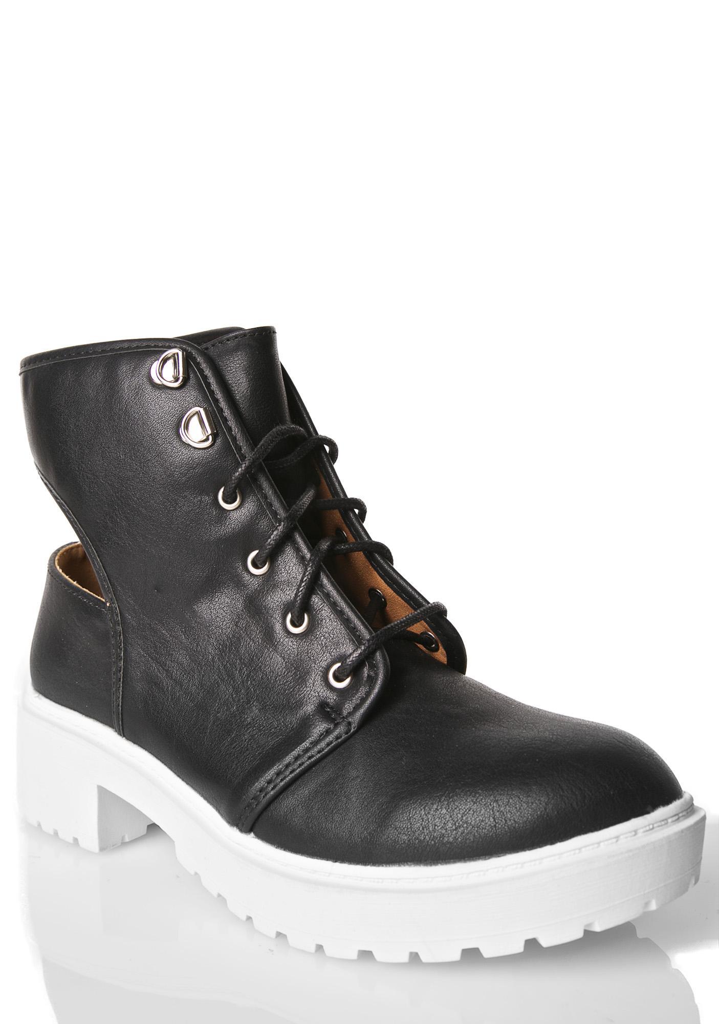 Kira Cut-Out Boots