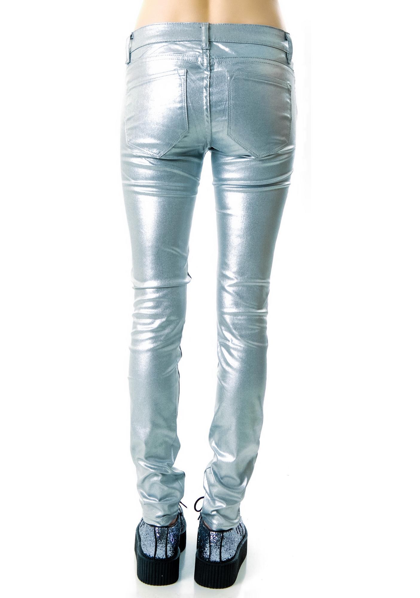 Lip Service Shimmer Stretch Jeans