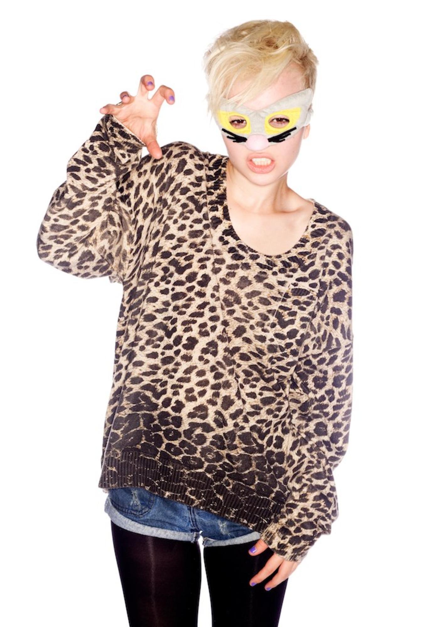 One Teaspoon Rising Leopard Pullover