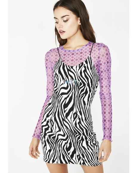 Zebra Mini Dress