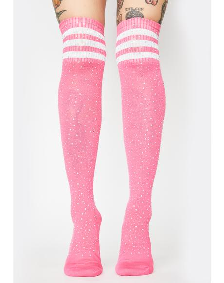 Candy Cosmic Rivals Thigh High Socks