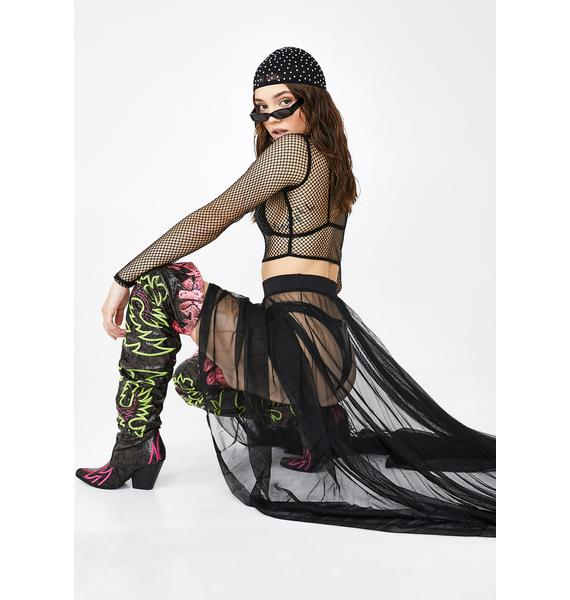 Kiki Riki Dark Queens Everywhere Tulle Skirt