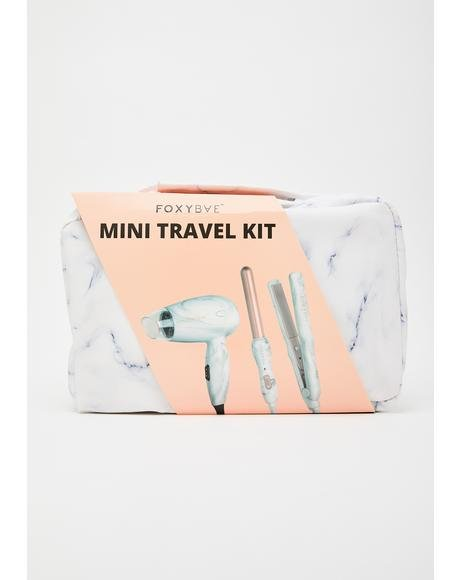 Rose Gold Mini Hot Styling Tools Travel Kit