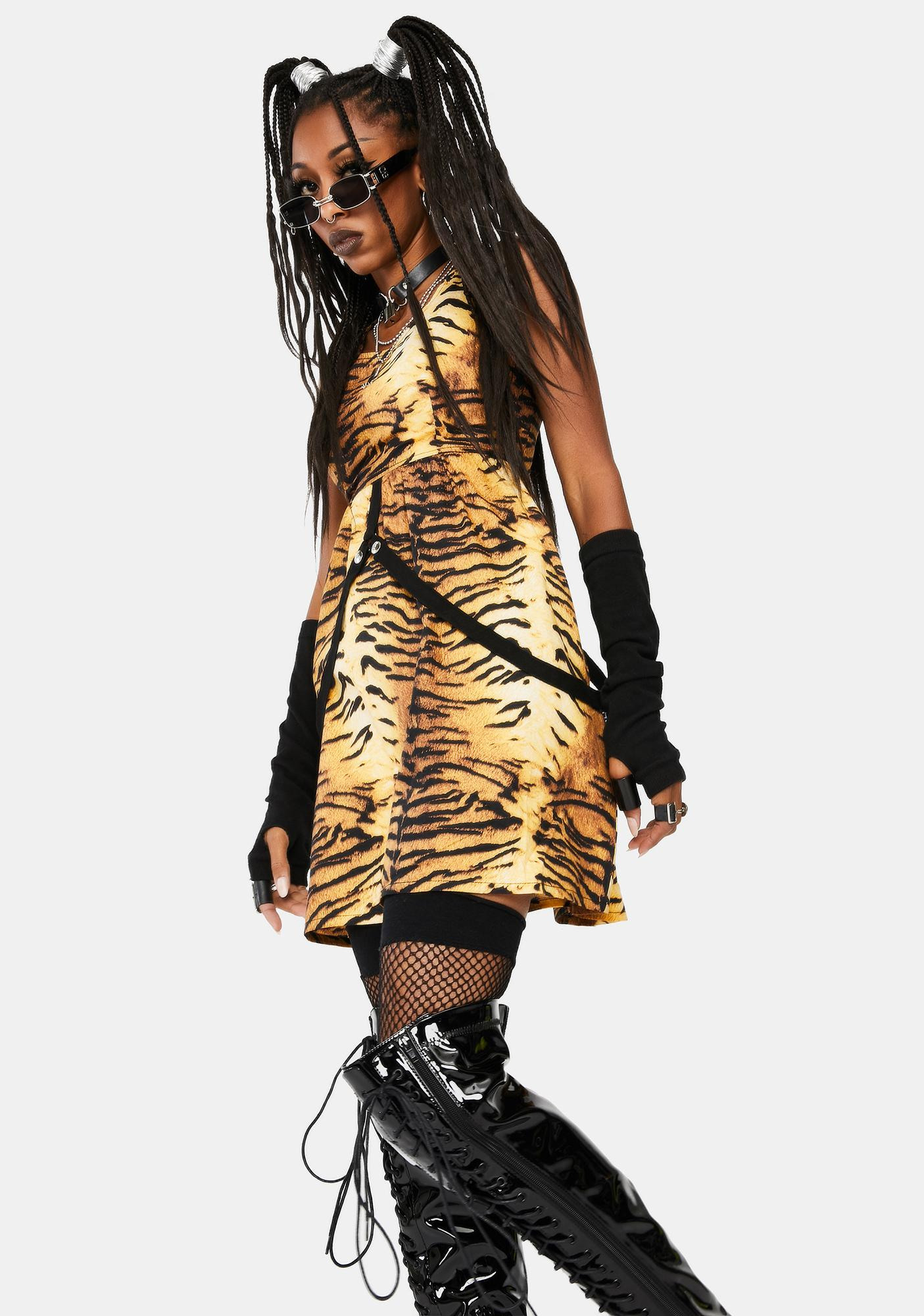 Tripp NYC Tiger Strap Mini Dress