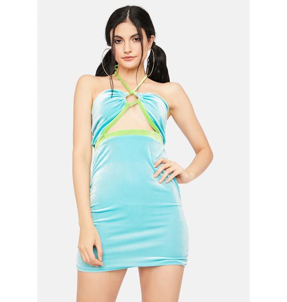 Trust In Chic Velour Halter Dress