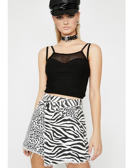 Haute Harlot Denim Skirt