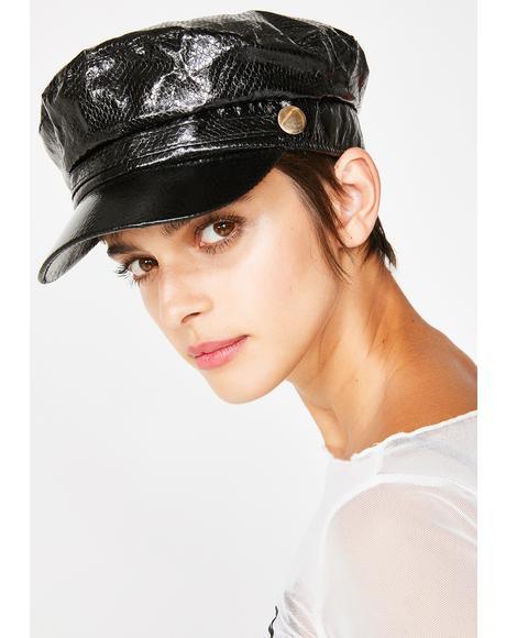Backstage Bae Patent Hat