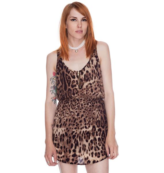 Joyrich Leopard Spot Tank Dress