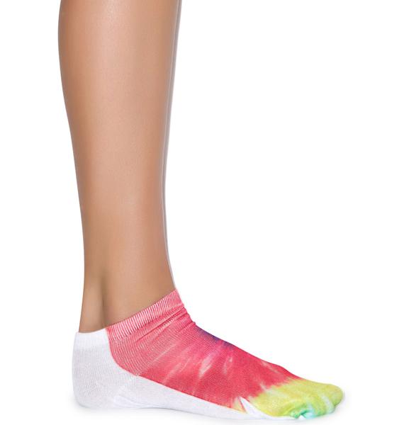 That 70s Tie Dye Ankle Socks