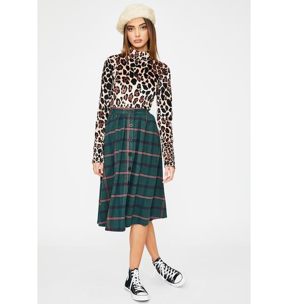 Lazy Oaf Feeling Thrifty Plaid Skirt