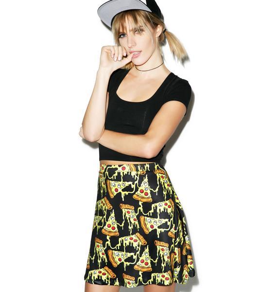 Sourpuss Clothing Pizza Party Skater Skirt