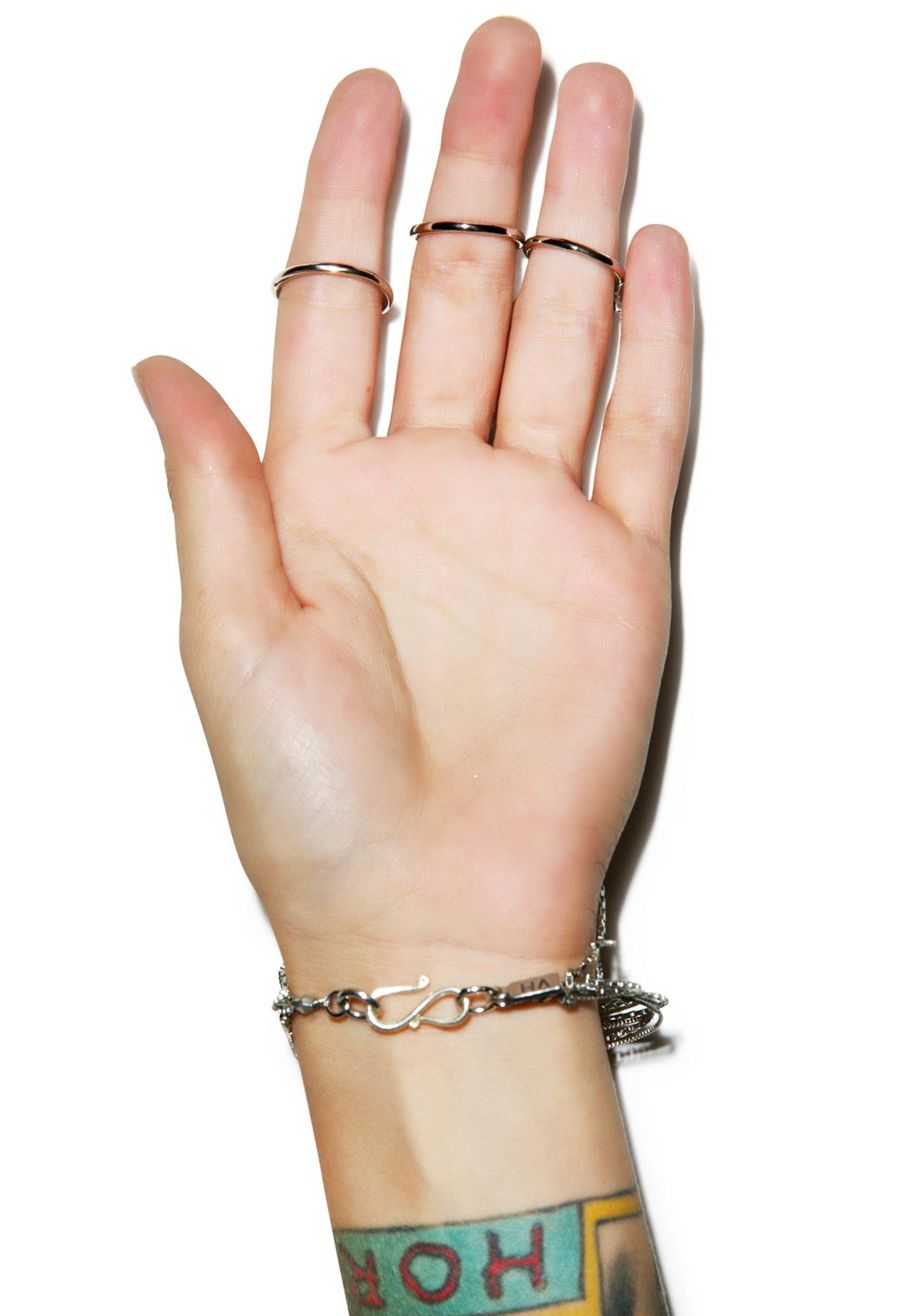 Vanessa Mooney The Long Life Chain and Ring Bracelet