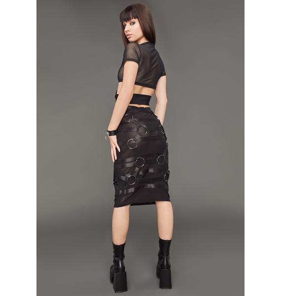 Poster Grl On Your Timeline Midi Skirt