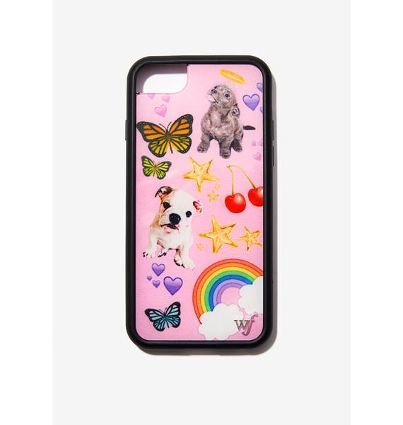 Wildflower Puppy Love iPhone Case