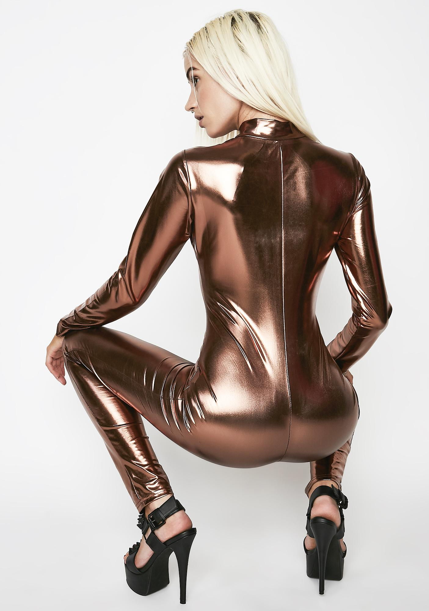 Bronze Laugh At Danger Catsuit