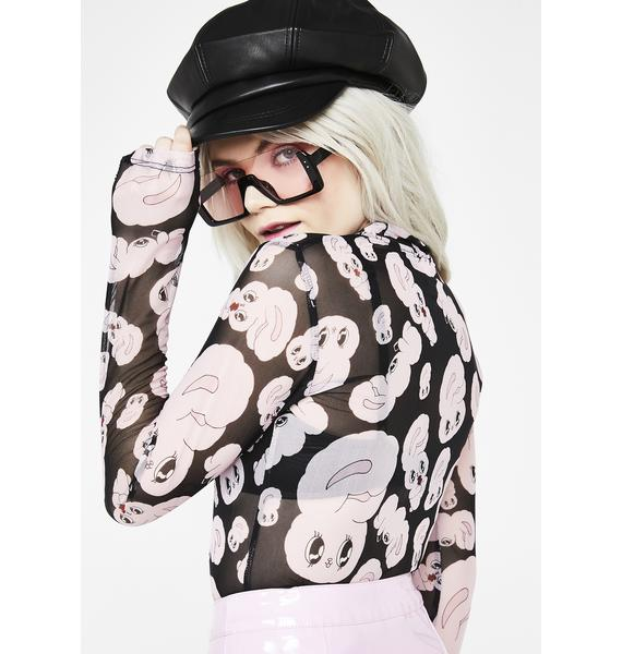 Lazy Oaf All Over Bunny Top