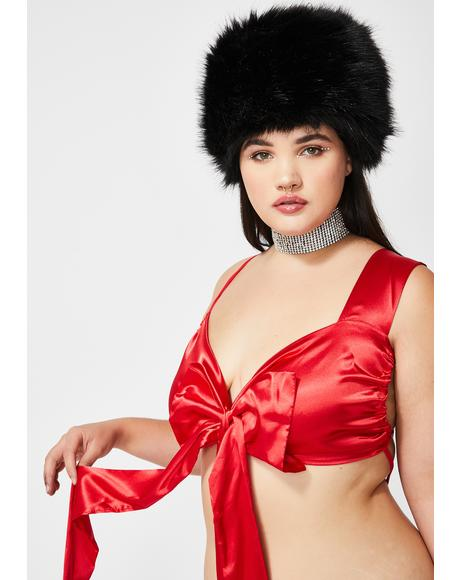 Baby Unwrap Me Satin Teddy