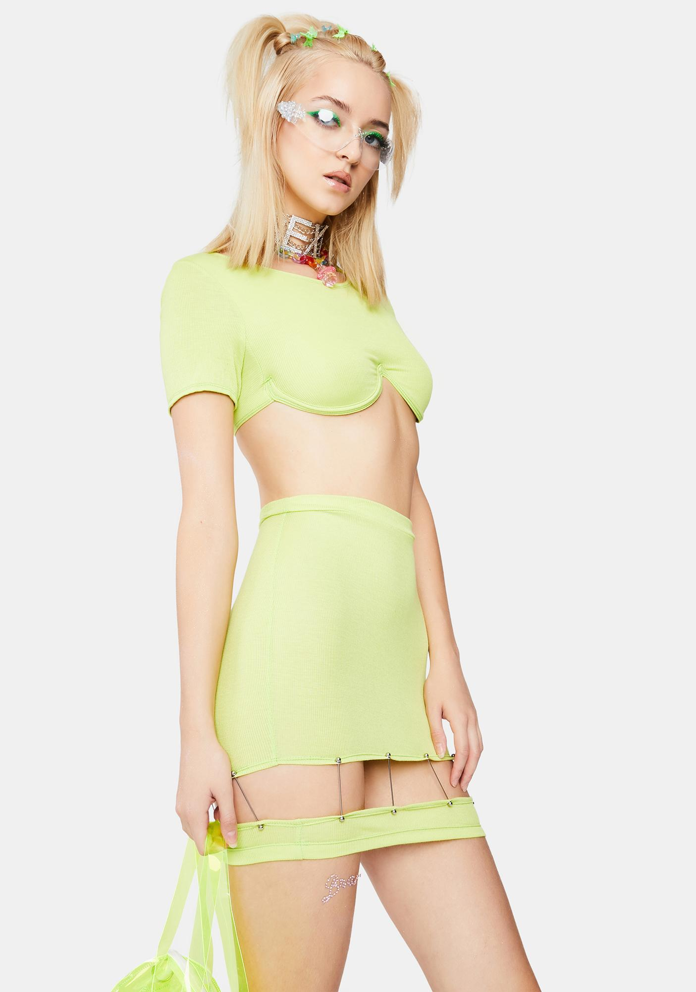 Ivy Berlin Limewire Cut-Out Skirt
