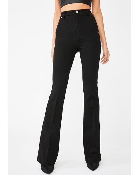 Caviar Ponte Flared Pants