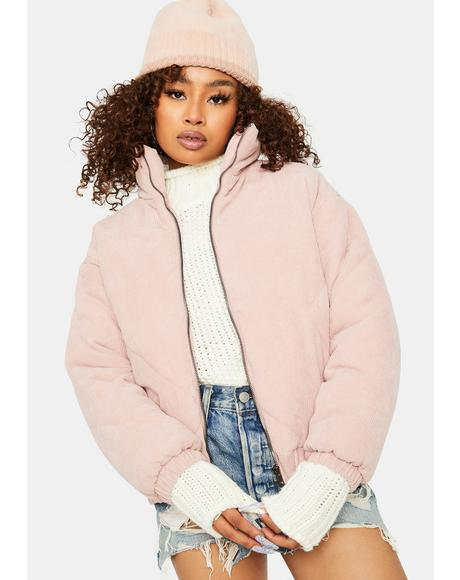 Winter Whimsy Quilted Puffer Jacket