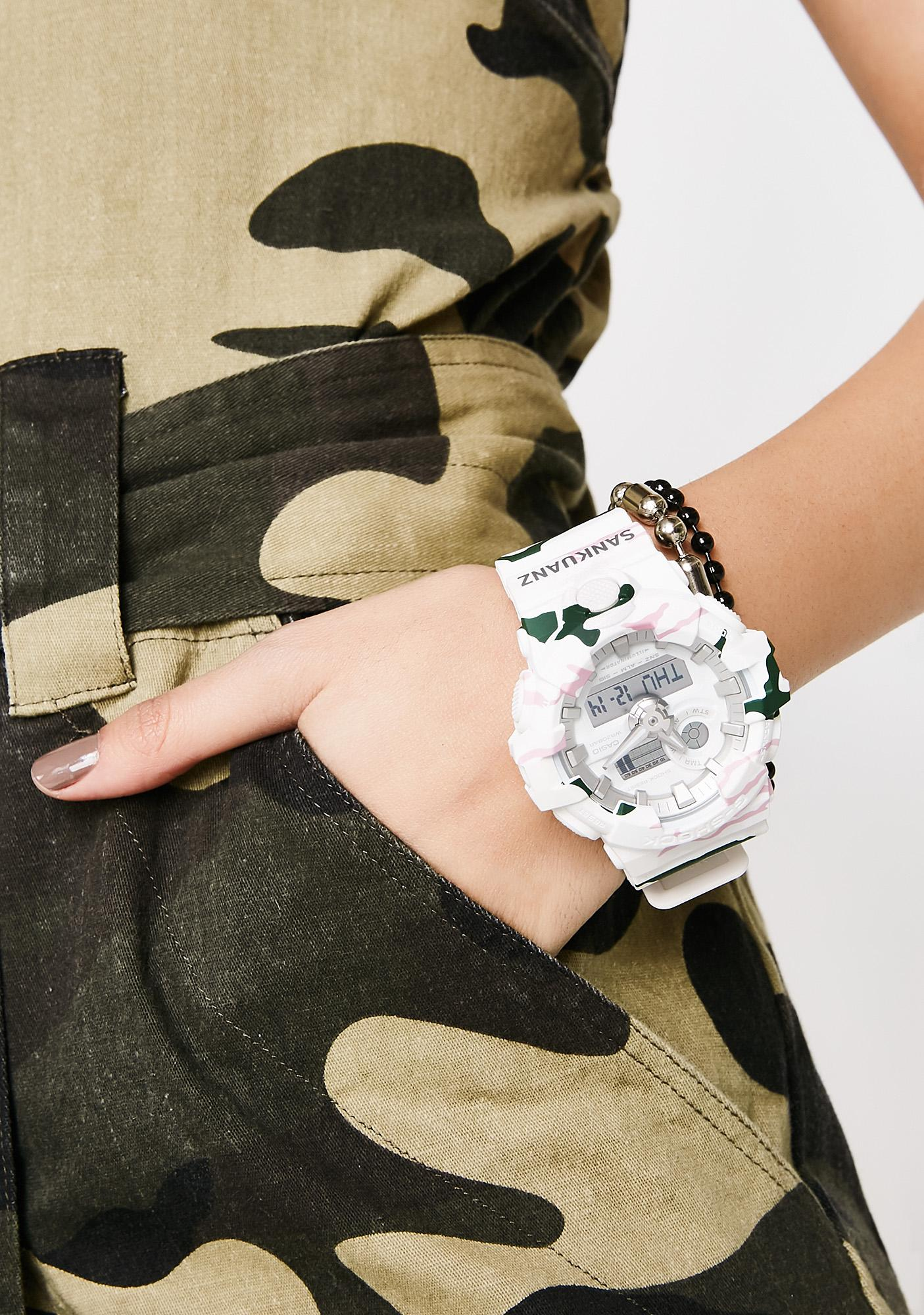 G-Shock White Camo Watch