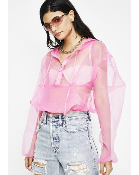 Sugar Step Back Sheer Jacket