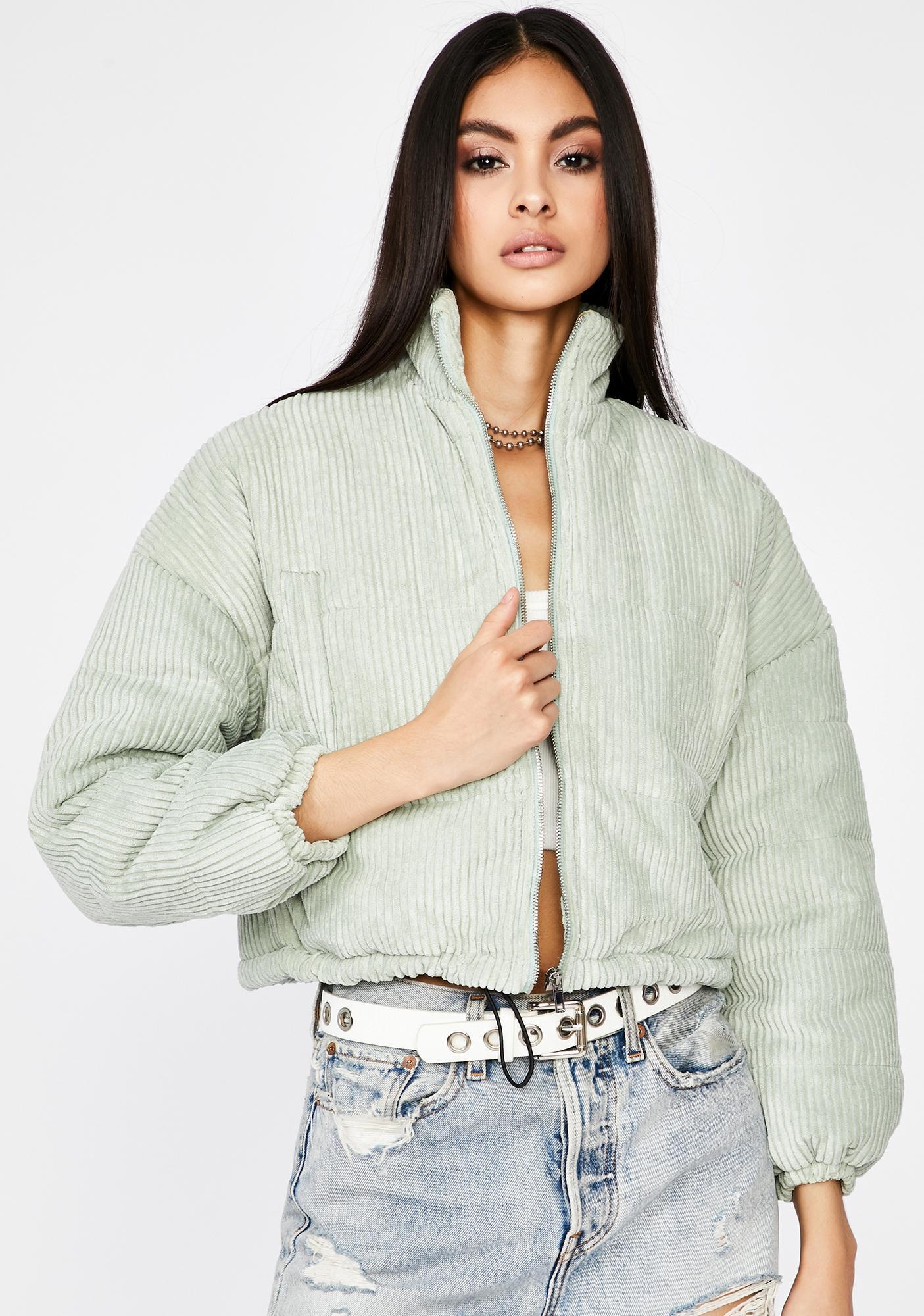 Chill Vibe Corduroy Puffer Jacket