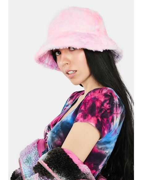 Candy Take Me Back Faux Fur Bucket Hat