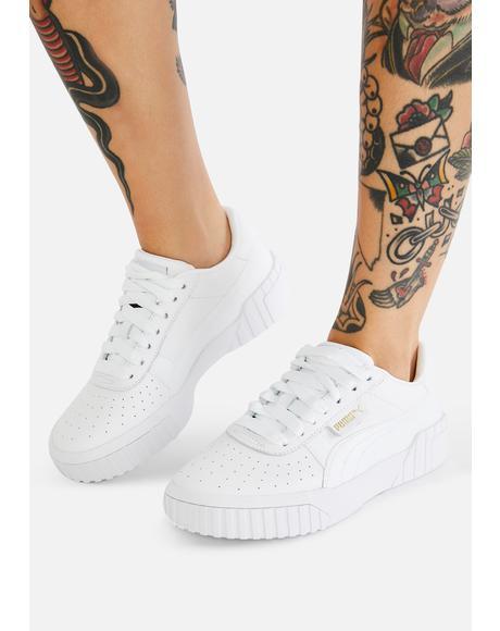 White Cali Sneakers