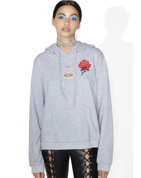 Lovely Thornz Distressed Hoodie