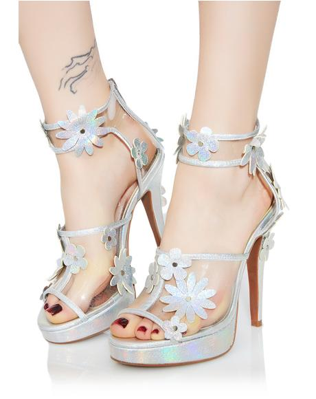 Garden Girl Hologram Heels