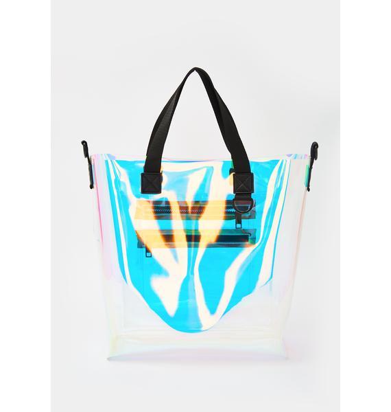Poster Grl Splash Zone Iridescent Tote Bag