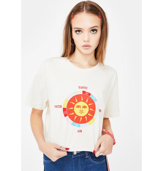 Daisy Street Sun Graphic Relaxed T-Shirt