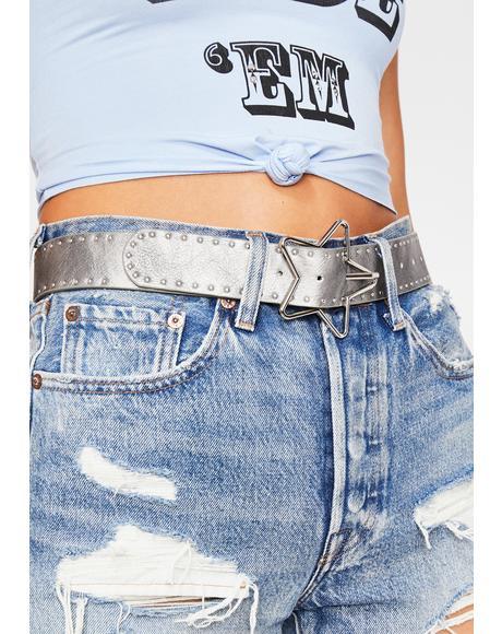 Platinum Mainstage Dreamer Buckle Belt