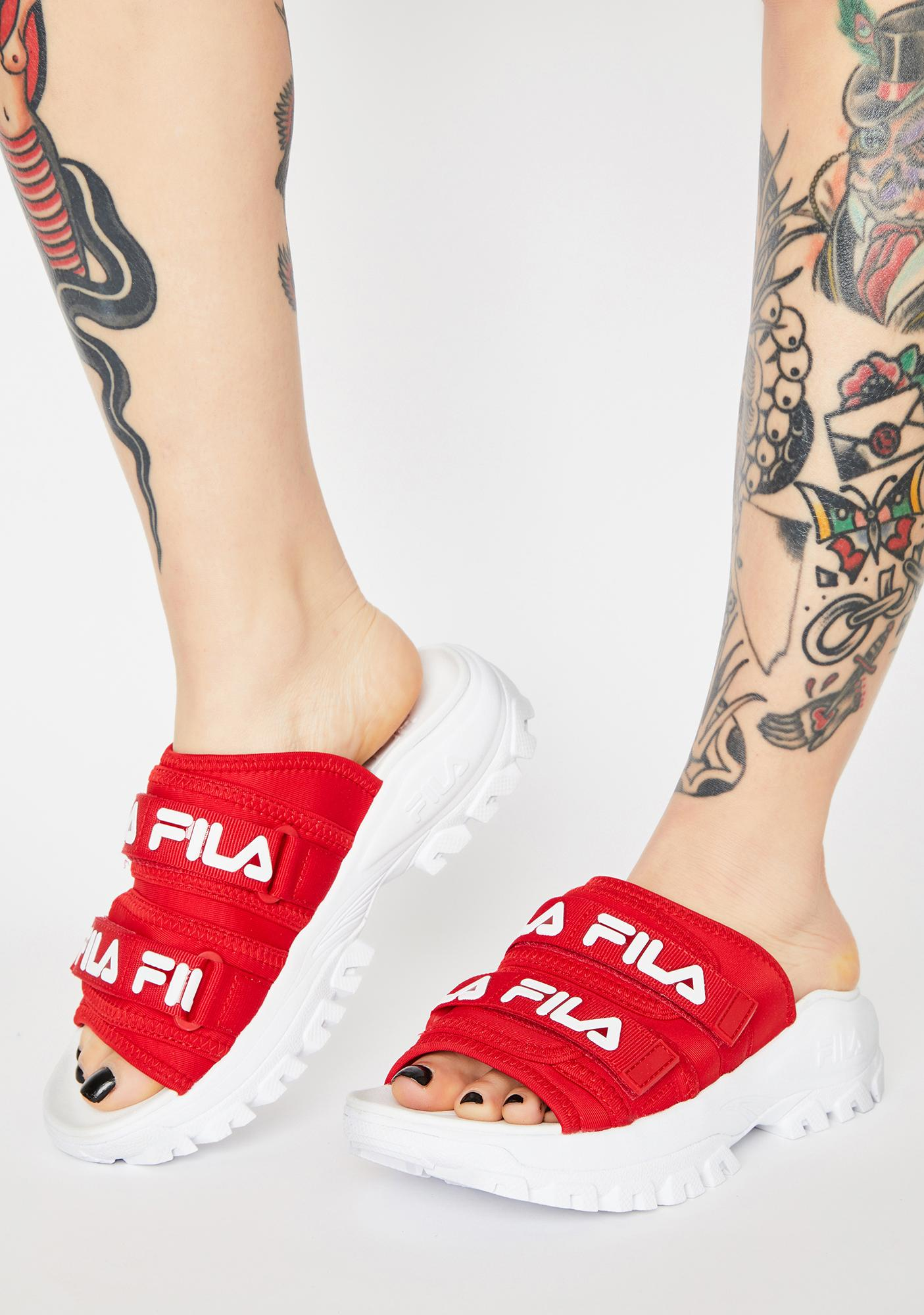 Fila Red Outdoor Slides
