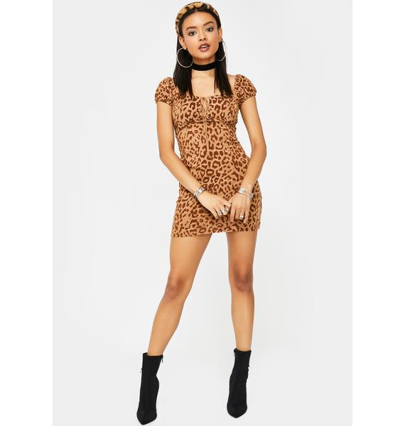Motel Tan Leopard Gala Dress