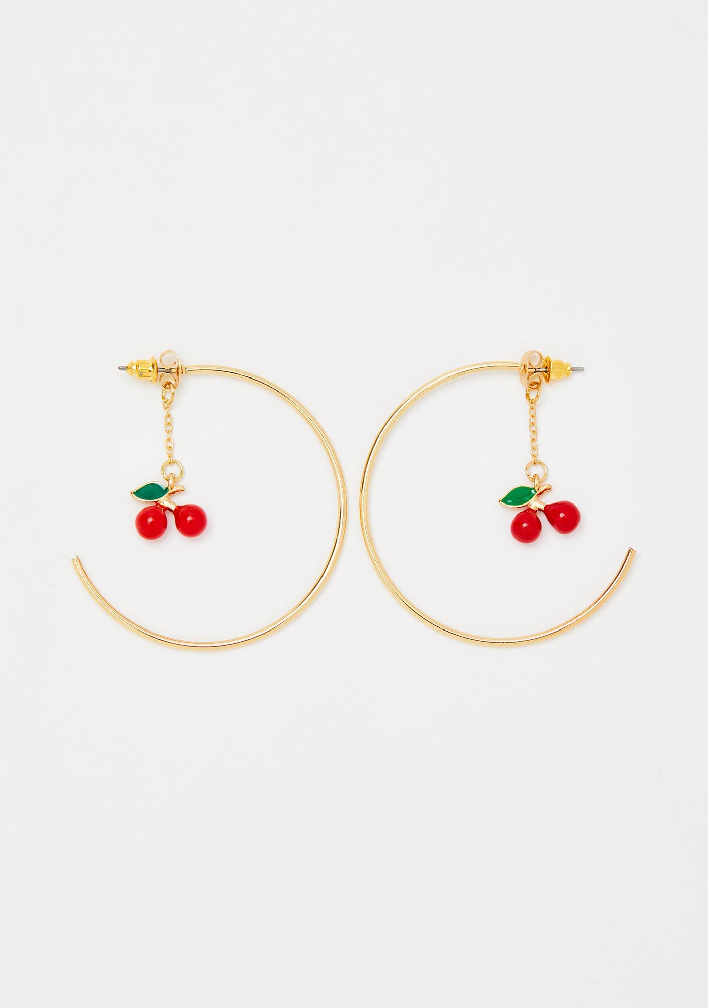Cherry Divine Hoop Earrings