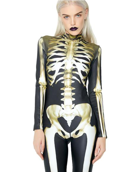 Graveyard Skeleton Catsuit