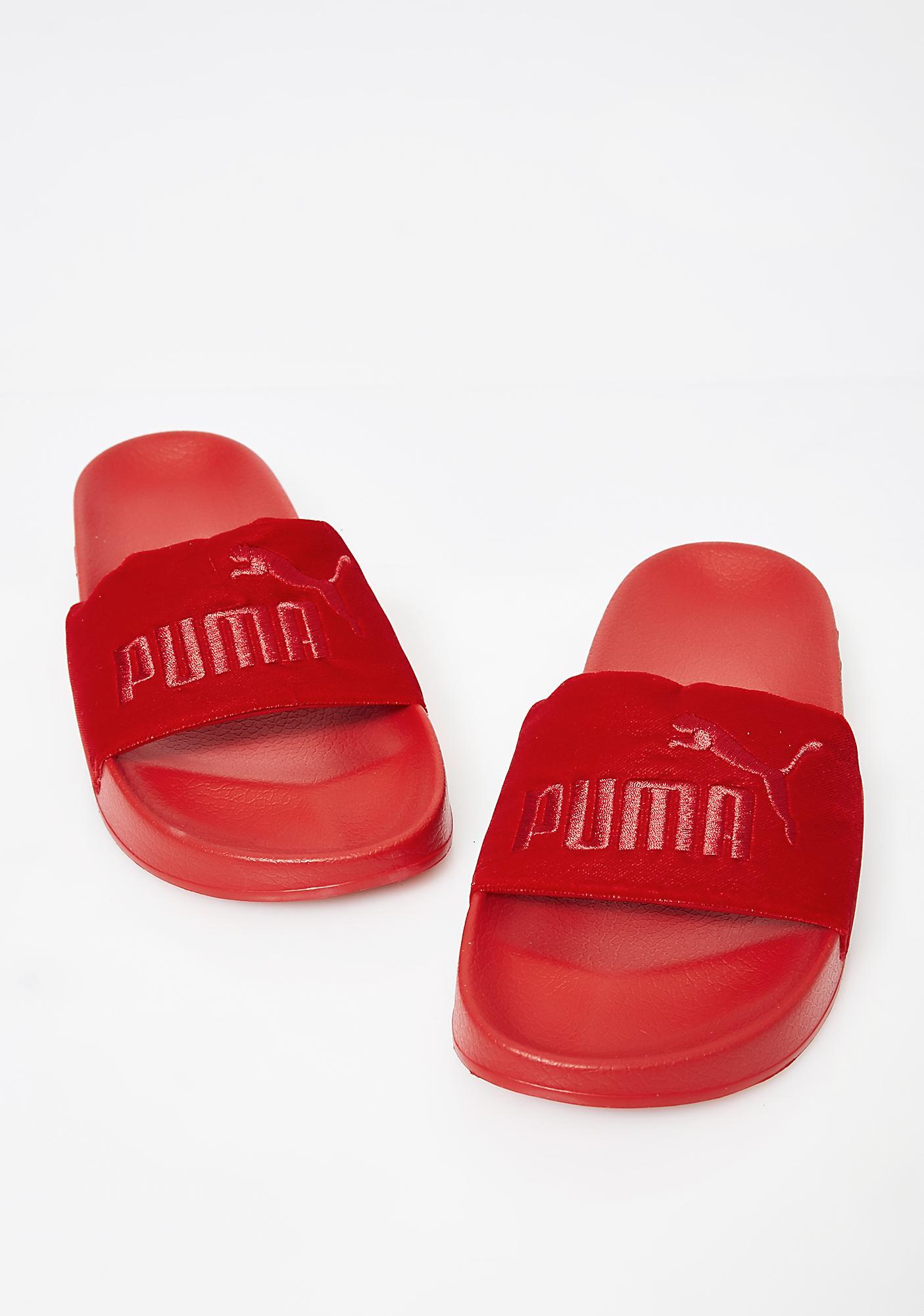 PUMA Velvet Leadcat Slides