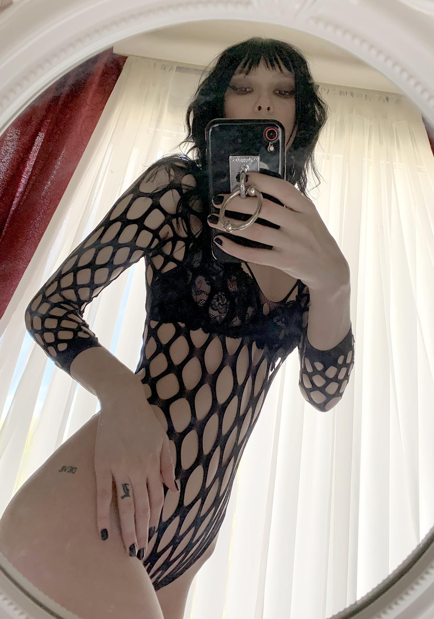 Between Love And Madness Fishnet Bodysuit