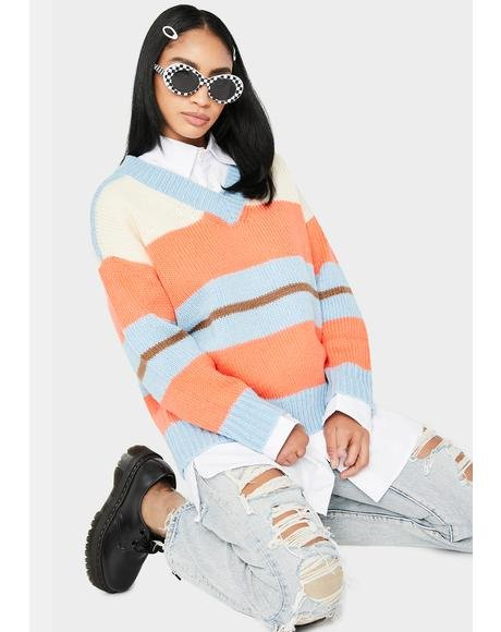 Foxy Fire Striped Sweater