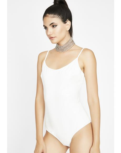 Icy High Key Latex Bodysuit